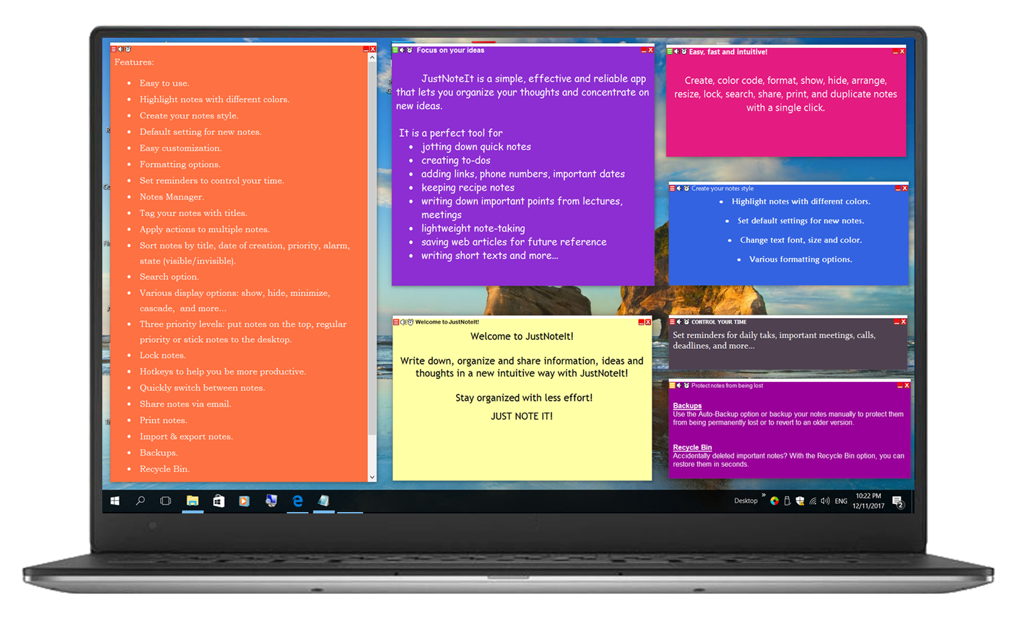 JustNoteIt - Sticky Notes Manager for Windows 10