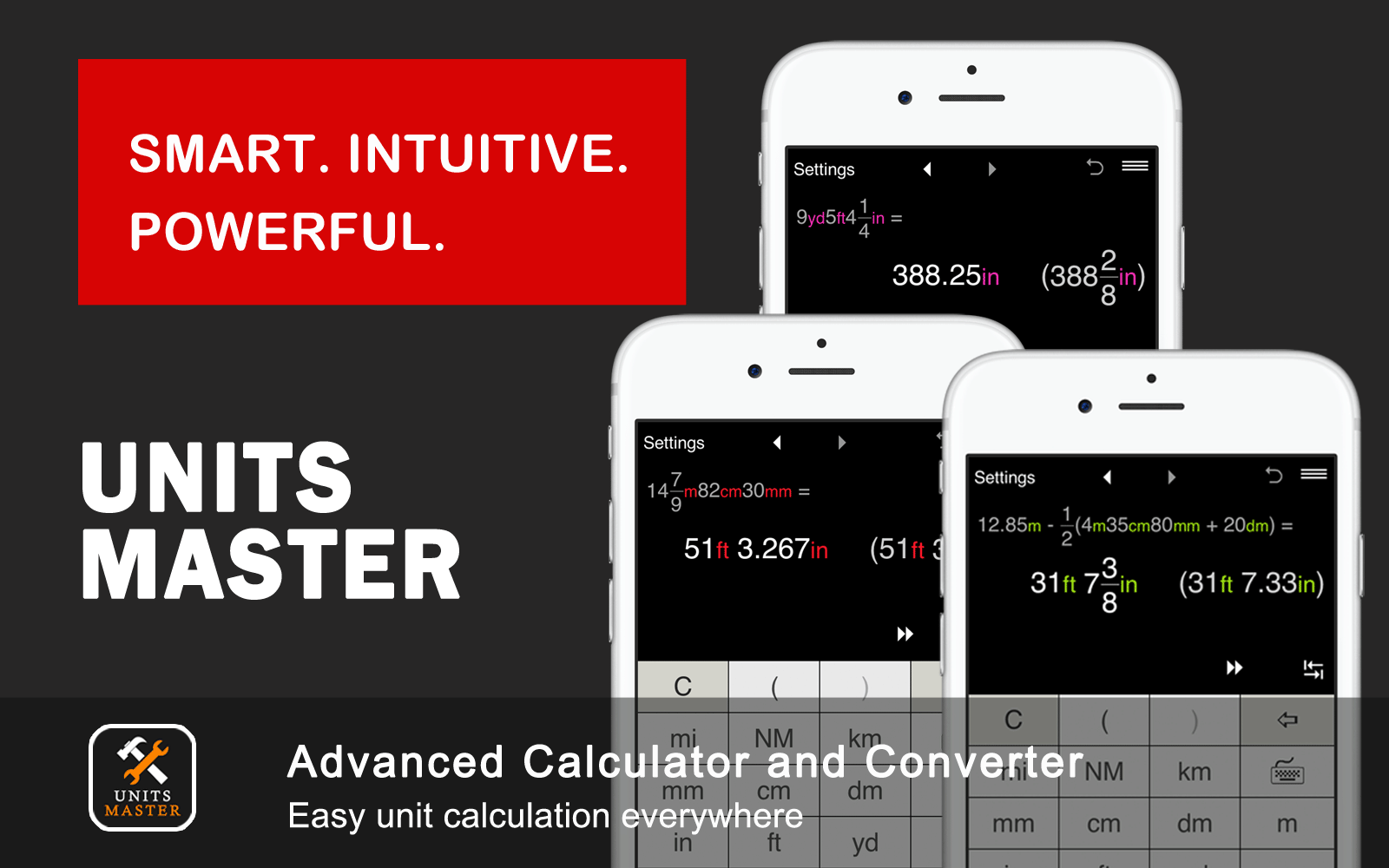 Unit Calculator and Converter for everyday calculations